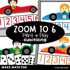 Zoom to Six - Math Center Game for Early Number and Subitizing