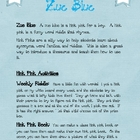 Zue Blue:  Hink Pinks for boys