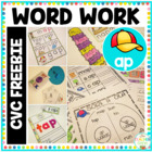 'ap' Word Family Word Work {FREE}