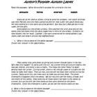 author's purpose practice paragraphs (autumn leaves)