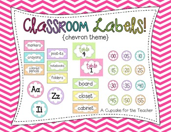 classroom labels! {chevron theme}