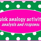 critical thinking with analogies-read, analyze, respond