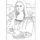da Vinci.  Mona Lisa.  Coloring page and lesson plan ideas