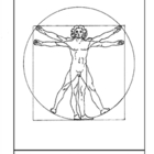 da Vinci.  Vitruvian Man.  Coloring page and lesson plan ideas