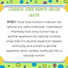 eighth grade common core math posters