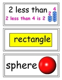 enVision Grade 1 Topics 5-8 Vocabulary Word Wall Cards