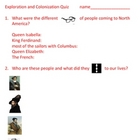 exploration and colonization quiz