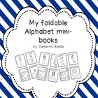 foldable alphabet mini-books in spanish/ mini libros del alfabeto