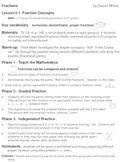 fraction lesson plans