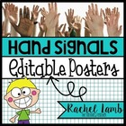 hand signal posters editable {ease the pain of blurters in