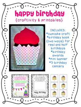happy birthday {craftivity & printables}