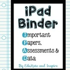 iPad Binder Cover {Freebie!}