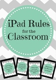 iPad Rules & Student Contract for the Classroom