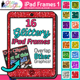 iPad Tablets Glitter Frame Borders ClipArt - Music, Art, V