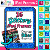 iPad Tablets Glitter Frame Borders [PACK 2] Clipart - Musi