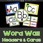 iPod Word Wall Cards & Headers