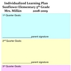 individualized learning plan