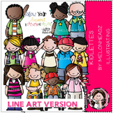 kidlettes LINE ART bundle by melonheadz