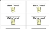 math journal labels for student journals