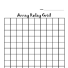 multiplication ARRAY Relay Activity -  multiplication fact