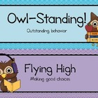 owl theme behavior clip chart
