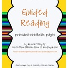 printable Guided Reading notebook pages