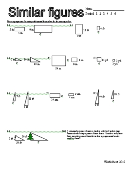 Similar Figures Worksheet Proportion: Similar Shapes Proportions Worksheet   Delibertad,