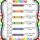 rainbow roll-n-write {freebie}