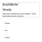 rainbow words