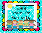 routine posters for the morning