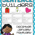 sentence builders {printables!} december, january, february