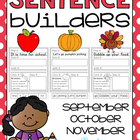 sentence builders {printables!} september, october, november