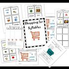 shopping for syllables sorting activity and assessments- fun!