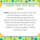 sixth grade common core math posters