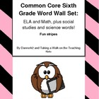sixth grade common core vocabulary word wall / flash cards