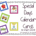 special days calendar cards {in bright colors}