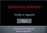 synonym or antonym interactive powerpoint