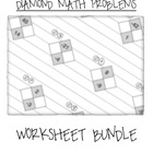 Math Diamond Problems Worksheet Bundle (Factoring Trinomia