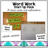 Word Work Start Up Pack (Choice Cards, Printables and Expl