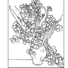 van Gogh. Still Life: Irises. Coloring page and lesson plan ideas