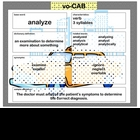 voCAB  analyze ( test taking vocabulary )