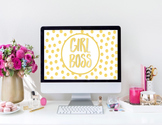 """Girl Boss"" Desktop Wallpaper"