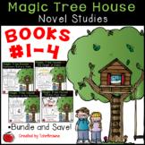 #1-4 Magic Tree House Book  Novel Study Units