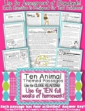 10 Animal Themed Passages for Close Reading or Text Eviden