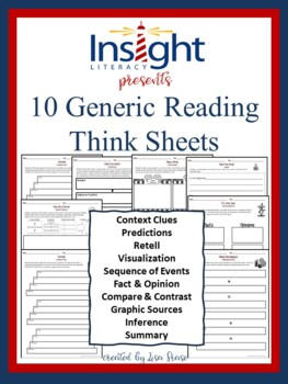 10 Generic Reading Think Sheets