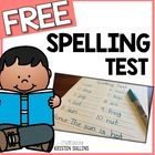 10 Word Spelling Test Template