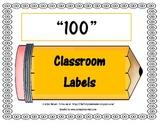 100 CLASSROOM LABELS - PENCILS
