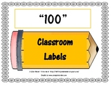 100 CLASSROOM LABELS - PENCILS