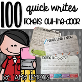 100 Quick Writes And Tickets Out The Door {Exit Slips}