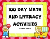 100th Day Math and Literacy